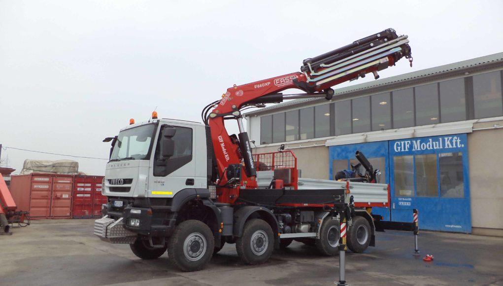 A Gif Modul Kft. elsősorban ipari egységek és gépek autókra való ráépítésével foglalkozik.